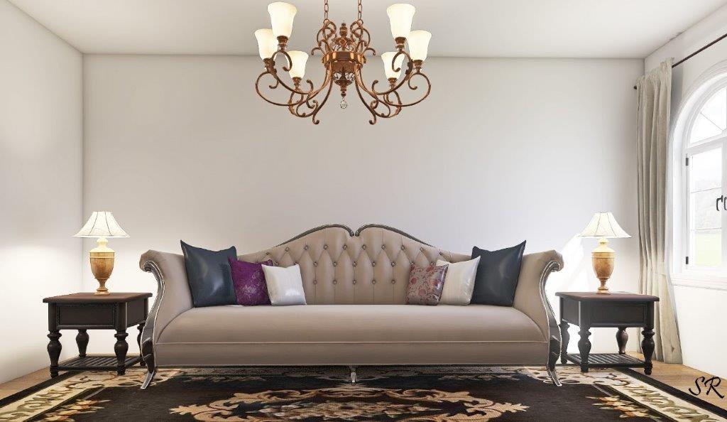 camel back sofa