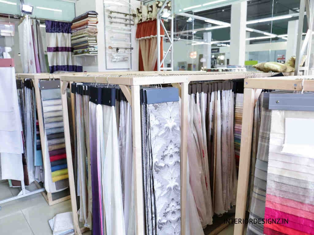 Curtains and blinds showroom