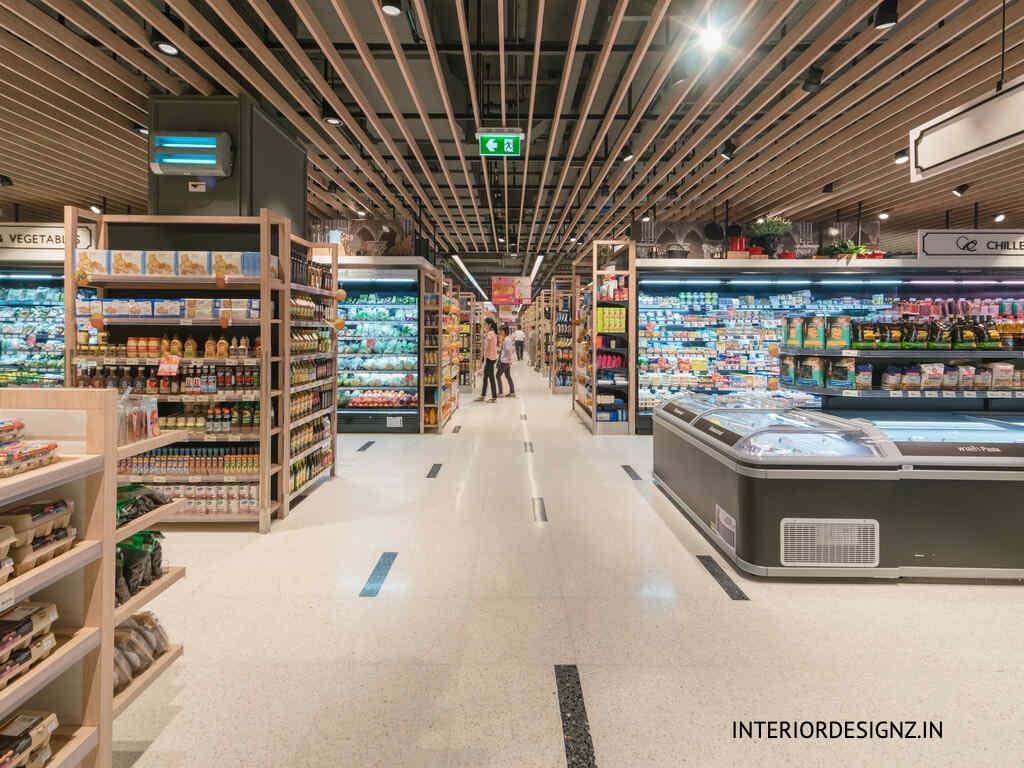 Supermarket interiors