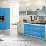 How to design and build a white and blue modular kitchen in chennai