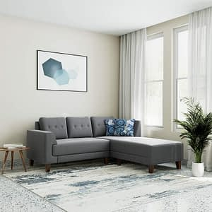 L-Shape sofa for sale Grey color
