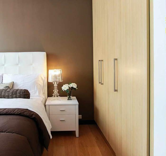 Bedroom brown and beige