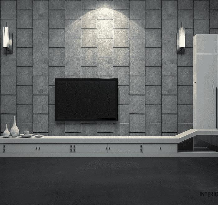 Black, white & grey TV unit