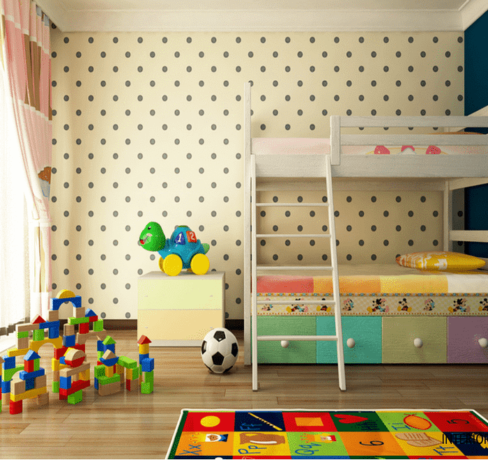 Kids Room multi colors with Bunker bed