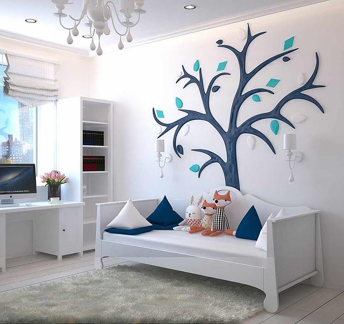 White Color Child room
