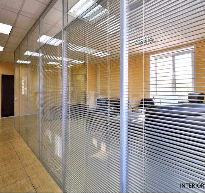 GLASS Partitions with Blinds