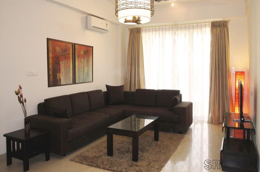 Brown Living area design