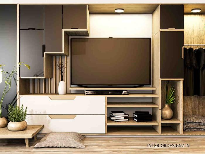 Wardrobe with TV unit