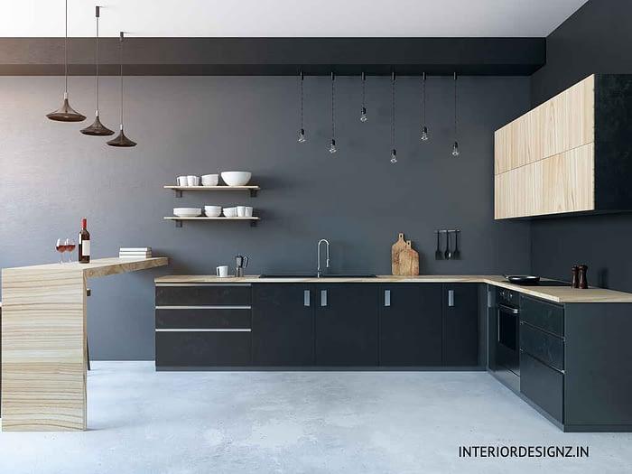 Black color Kitchen